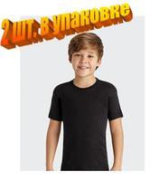 Байкар Футболка для мальчика 100% хлопок черная Арт.2222