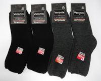 Веронис носки мужские шерсть внутри махра ослабленная резинка черные Арт.М1А1