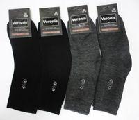 Веронис носки мужские шерсть внутри махра черные Арт.М2А1