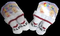 """""""Smolicek"""", г.Раменское Носки детские для новорожденных """"Папа-мама"""", внутри махра"""