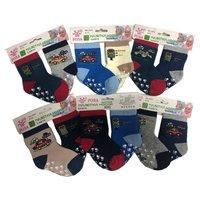 Роза, носки детские, малютки для мальчиков, внутри махровые,  Арт.3340-13