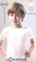 Байкар футболка для мальчика белая Арт.2222