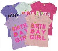 "ASIAN BABY Футболка для девочек 100% хлопок ""Birth day girl"" Арт.Birth day girl"