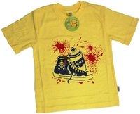 """VIZIR COLLECTION Футболка для мальчиков жёлтая 100% хлопок """"кеды"""" Арт.44"""