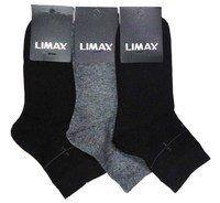"""ЛИМАКС (LIMAX) Носки мужские средне-укороченные, кеттельный шов, ассорти, """"маленький рисунок на паголенке""""Арт.60032А"""