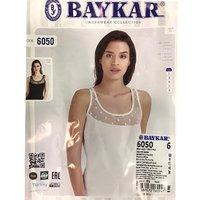 Байкар, Майка женская, с гипюровой вставкой, белая Арт.6050