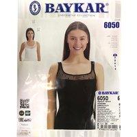 Байкар, Майка женская, с гипюровой вставкой, черная Арт.6050