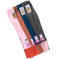 Футе, Лосины для девочек, хлопок, двухцветные с надписью на одной ноге и рисунком на другой Арт. 9007