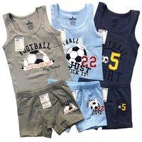 """Байкар, Комплект для мальчиков, цветной (майка+боксеры) """"Football"""" Арт.2678+3678"""