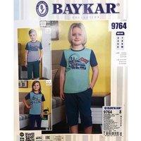 Байкар, Пижама-костюм для мальчиков (футболка+шорты) темно серая Арт.9764
