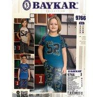 Байкар, Пижама для мальчиков (футболка+бриджи) бирюзовая Арт.9766