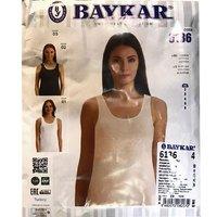 Байкар, Майка женская, классическая, широкая бритель, черная Арт.6136