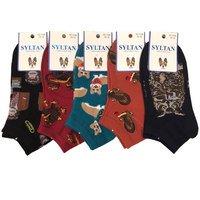 """SYLTAN, Носки для девочек, короткие, подростковые, с разными рисунками """"Птицы и звери"""" Арт.3188"""