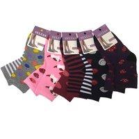 """SYLTAN Носки для девочек хлопок внутри махровые """"Веселые ножки"""" (полоска,фрукты,сердечки) Арт.4042"""