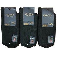 SYLTAN, Носки мужские, толстая шерсть Соболя с медицинской резинкой, черные Арт.7106