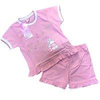 Турция, Пижама для девочек (футболка + шорты), розовая Арт.314