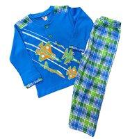 """Турция, Пижама для мальчиков, синяя с рисунком """"Самолеты"""" Арт.210"""