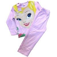 Турция, Пижама для девочек, розовая с рисунком,,Принцеса,, Арт.348