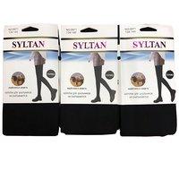 SYLTAN, Термо-колготы для школьников, верблюжья шерсть, не скатываются, однотонные, черные Арт.8971