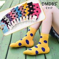DMDBS, Носки детские внутри махровые,хлопок однотонные ,,Горошек,, Арт.C-117