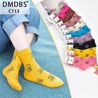 """DMDBS, Носки детские внутри махровые,хлопок однотонные с рисунком """"Мишки"""" Арт.C-113"""