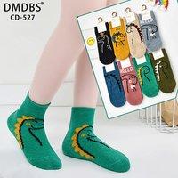 """DMDBS, Носки детские универсальные велюровые с рисунком """"Hello Динозаврики"""" Арт.CD-527"""