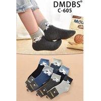 """DMDBS, Носки детские, внутри махровые, хлопок, двухцветные с рисунком """"Мишки"""" Арт.C-605"""
