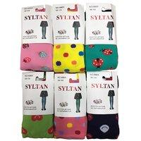 """SYLTAN, Колготы для девочек, хлопок, с разными рисунками """"Божая коровка"""" Арт.8969"""