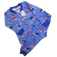 """Янтекс, Саша, Пижама для мальчиков, кулирка на синем фоне """"Гонки"""" Арт.ДП2"""