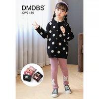 """DMDBS, Лосины детские, внутри мех, однотонные с апликацией """"Зайка"""" Арт.CW21-56"""
