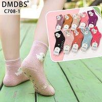 DMDBS, Носки для девочек, кашемировые, внутри махровые, с рисунком и тормозами Арт.C708-1