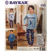 Байкар, Пижама для мальчиков, бирюзовая Арт. 9789