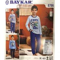 Байкар, Пижама для мальчиков, светло голубая Арт.9796