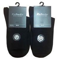 Rusoks, Носки мужские с медицинской резинкой, безшовные, черные Арт.М-123