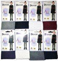 DOVER Школьные фантазийные колготки для девочек с блестками Арт.2177