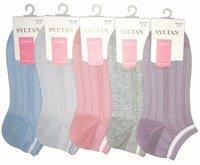 "SYLTAN Носки женские ультракороткие сетка, ""рубчик, косичка, полоска на резинке"" Арт.2226-3"