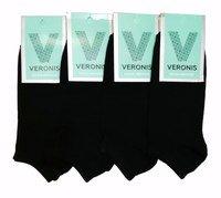 ВЕРОНИС Короткие женские носки однотонные черные Арт.С9А1