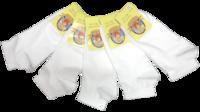 г.Пушкино Носки детские хлопок укороченные белые  Арт.L001-K