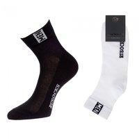 Rusocks носки мужские укороченные сетка темно-серые бесшовные Арт.М-2211