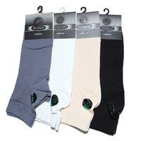 RuSocks носки мужские укороченные бамбук белые Арт.М-395
