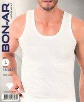 BON-AR Турция, Майка мужская 100% хлопок белая Арт.16-367