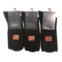 VILLA Россия, Носки мужские, медицинские, с ослабленной резинкой, черные, однотонные Арт. М-2