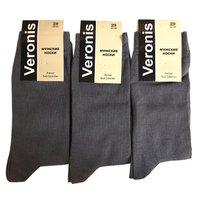 Веронис носки мужские классические темно-серый Арт.М3А1