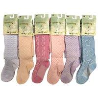 ШУГУАН, Колготы для девочек, однотонные с разными узорами, хлопок, цветные Арт. 9075