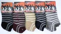 Шугуан Ультракороткие носки женские ангора внутри махра полосатые Арт. В2087