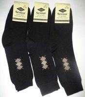 Сеньор носки мужские шерсть внутри махра черные Арт.ЗМ30